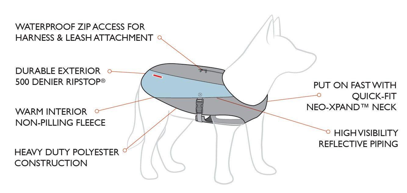 Veste imperméable Element pour chien